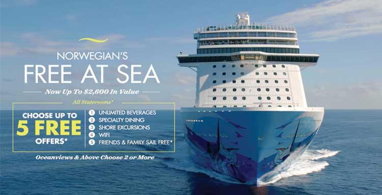 Norwegian Cruise Line Free At See Slider